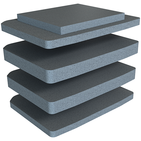 V100 Vault by Pelican™ Solid Foam Set